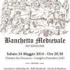 Sabato 24 maggio, Banchetto Medievale organizzato dal Terziere di Porta Fiorentina.