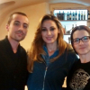 "Anna Tatangelo in Castiglion Fiorentino for work. Lunch break at the restaurant ""Da Giuda"""