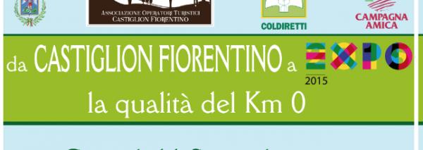 """""""Da Castiglion Fiorentino a Expo 2015: la qualità del Km 0"""". 11 sett. cena dell'Ass. e realizz. V. Schiatti."""